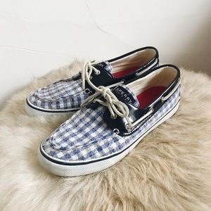 Sperry Topsider Checker Sequined Loafers